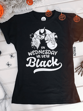 TEE UNISEX / ON WEDNESDAY WE WEAR BLACK
