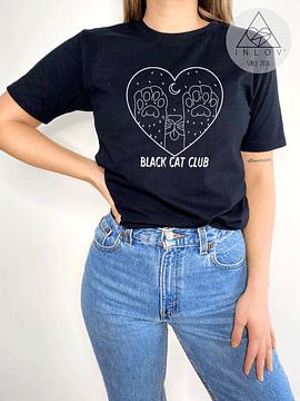 TEE UNISEX BLACK CAT CLUB