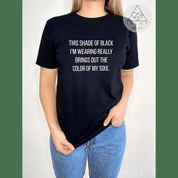 TEE UNISEX / SHADE OF BLACK