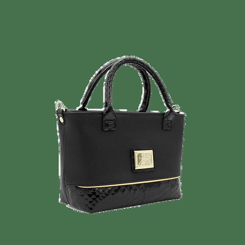 Mini Bolsa de mão Cherry Blossom Black
