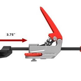 Abrazadera de riel en T en línea ajuste automático