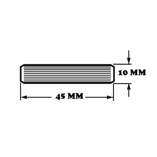 TAQUETE DE MADERA 10 mm X 45 mm