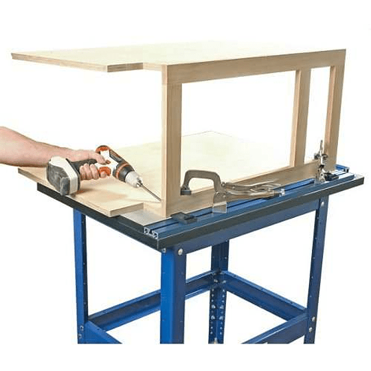 KLAMP TABLE AND STEELE  STAND COMBO