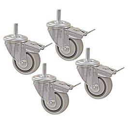 DUAL LOCKING CASTER SERT (SET OF 4)