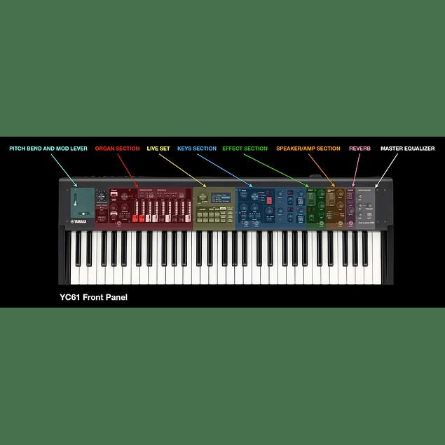 YAMAHA YC61 STAGE KEYBOARD PIANO