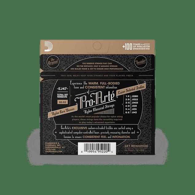 D'ADDARIO EJ47 CUERDAS NYLON GUITARRA ACUSTICA TENSION NORMAL ( Pack 2 Juegos )