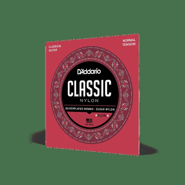 D'ADDARIO EJ27N CUERDAS NYLON PARA GUITARRA ACUSTICA TENSION NORMAL (Pack 2 Juegos)