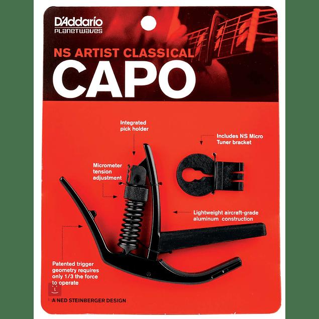 D'ADDARIO CAPO ARTIST BLACK AJUSTABLE