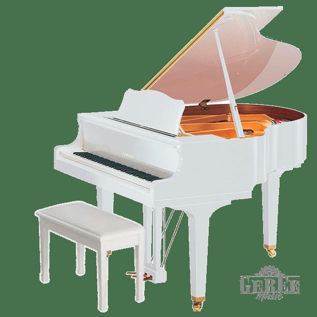 YAMAHA GB1K WHITE PE BABY GRAND PIANO PIANO DE COLA