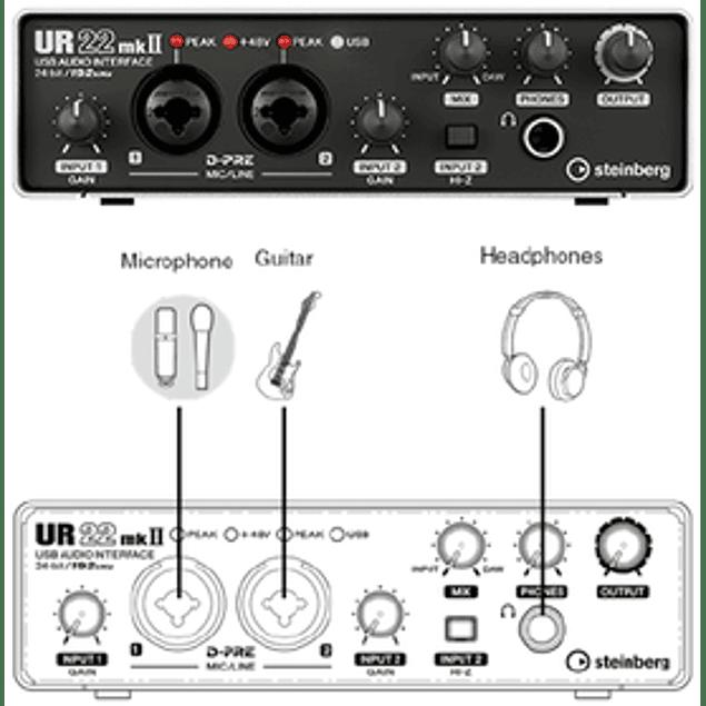 STEINBERG UR22 MKII RECORDING PACK INTERFAZ DE AUDIO