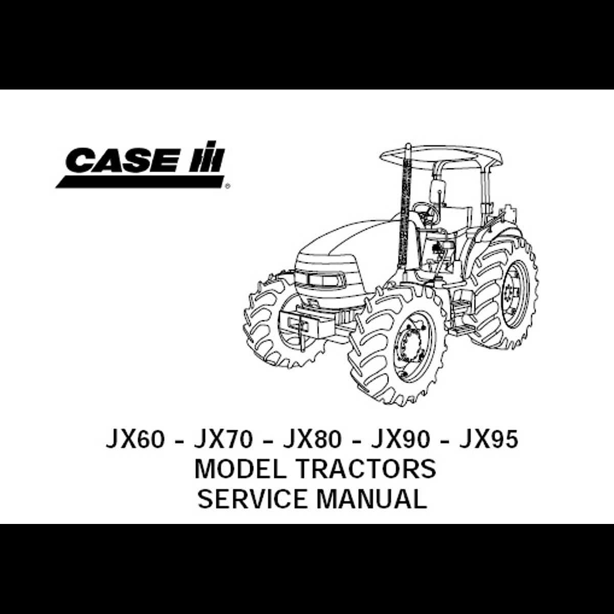 Manual De Taller Case IH JX60, JX70, JX80, JX90, JX95