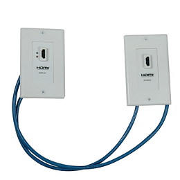 Tripp Lite Juego Extensor de Placa de Pared HDMI sobre Cat5/Cat6 Doble