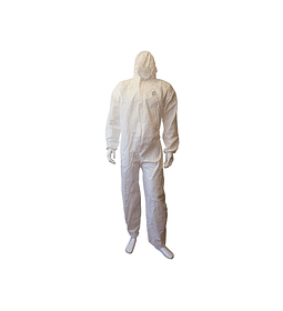 BUZO DESECHABLE COVERALL STRONG WORK BLANCO/GORRO TIPO TYVEK