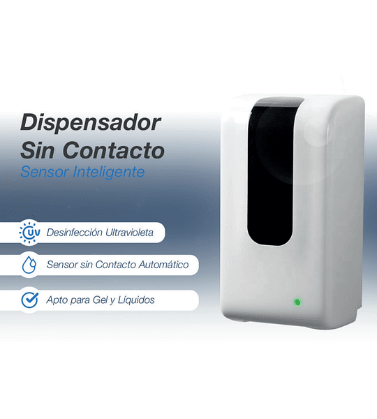 Dispensador alcohol gel y líquidos sin contacto sensor inteligente