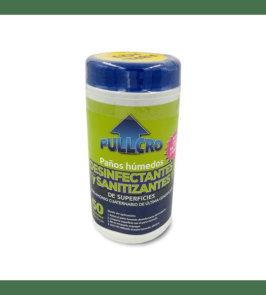 Paños húmedos desinfectantes y sanitizantes 50 toallitas (20x15 cm)