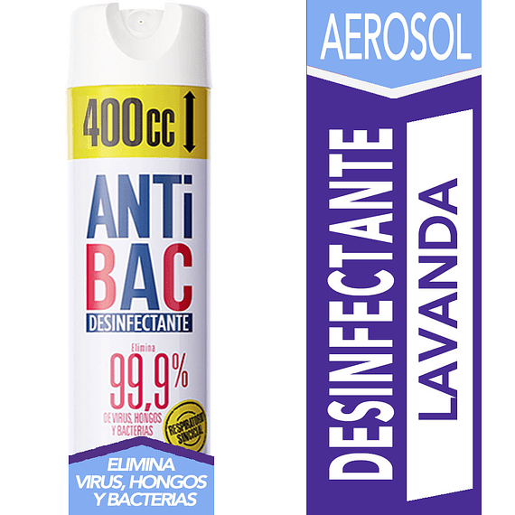Desinfectante Aerosol Anti Bac 400 cc Tanax