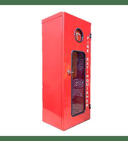 Gabinete Metálico con llave y visor inspección extintor 10K