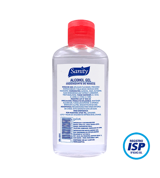 Alcohol Gel Sanity 100ml