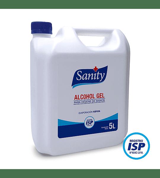 Alcohol gel Sanity 5 Litros