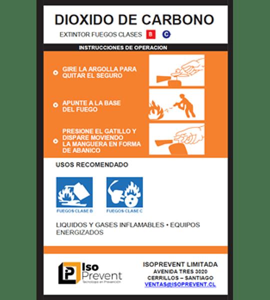 Mantención Extintor 10 Kilos CO2 (Dióxido de Carbono)