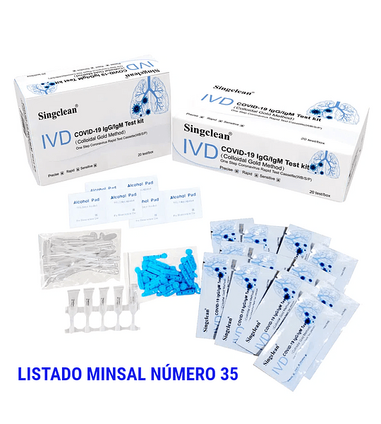 Test rápido anticuerpos (Singclean Medical)