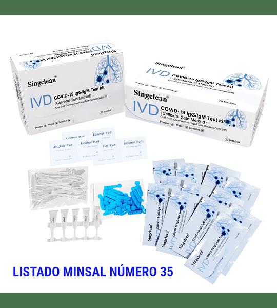 Test rápido anticuerpos (Singclean Medical) Caja 20 Unidades