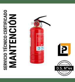 Mantención Extintor 1 Kilo PQS