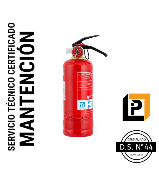 Mantención Extintor 1 Kilo PQS, MP1