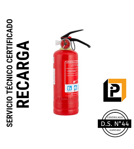 Recarga Extintor 1 Kilo PQS 75%