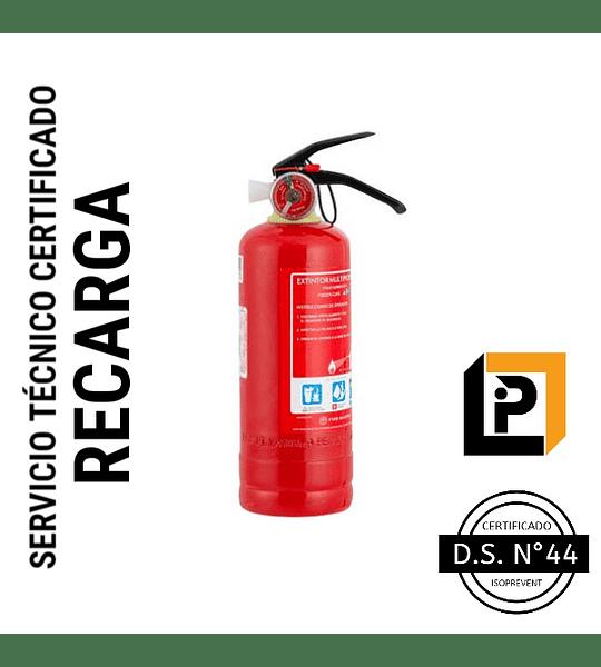 Recarga Extintor 2 Kilos PQS 75%, RP2