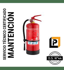 Mantención Extintor 4 Kilos PQS, MP4