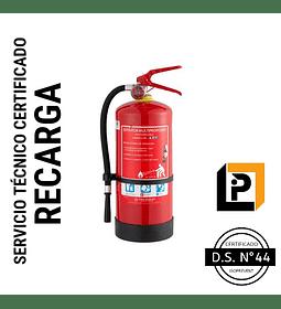 Recarga Extintor 4 Kilos PQS 75%, RP4