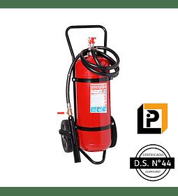 Carro Extintor PQS 100 Kilos, DS44, 75%, P100