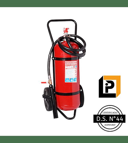 Carro Extintor PQS 25 Kilos, DS44, 75%