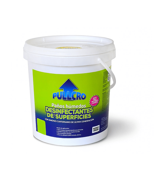 Paños húmedos desinfectantes y sanitizantes 100 unidades (30x30 cm)