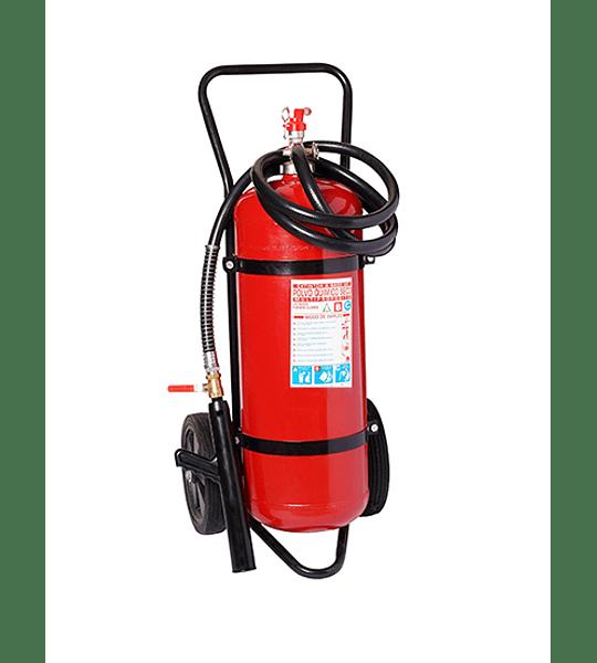 Carro Extintor Polvo Químico Seco 90% (ABC) 25 Kilos