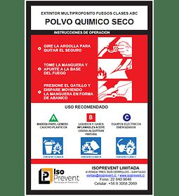 Mantención Extintor 2 Kilos PQS (Polvo Químico Seco)