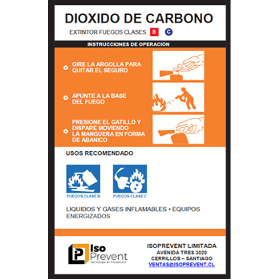 Mantención Extintor 2 Kilos CO2