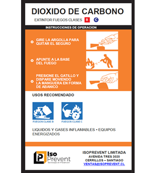 Mantención Extintor 5 Kilos CO2