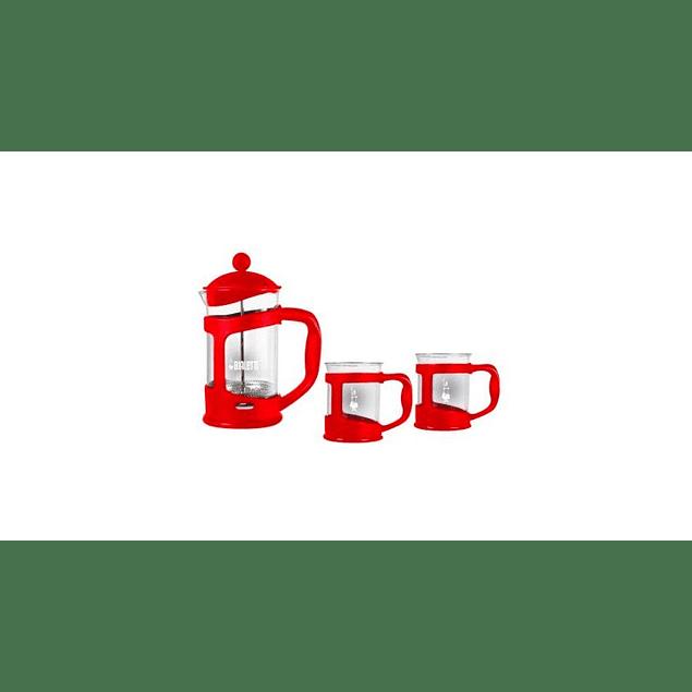 Set Cafetera Prensa Francesa + 2 Mugs
