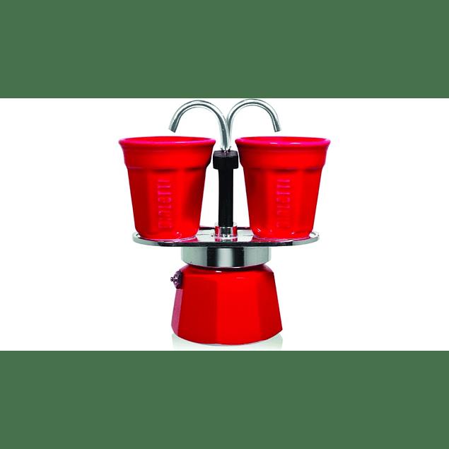 Set Cafetera Mini Express Roja