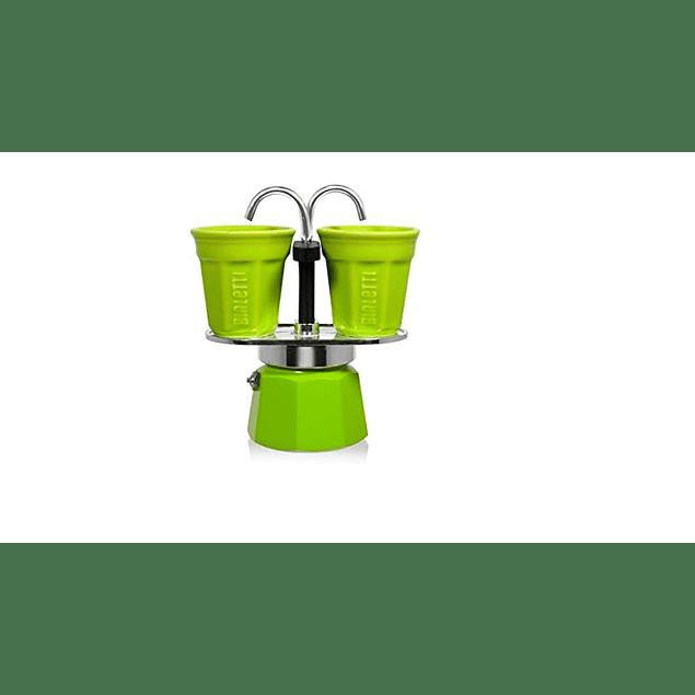 Set Cafetera Mini Express Verde