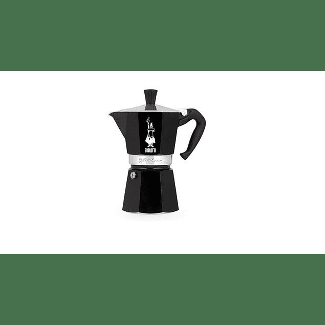 Cafetera Moka Express 3 tazas Negra