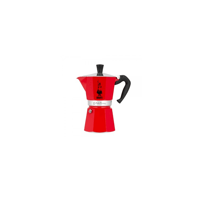 Cafetera Moka Express 3 tazas Roja
