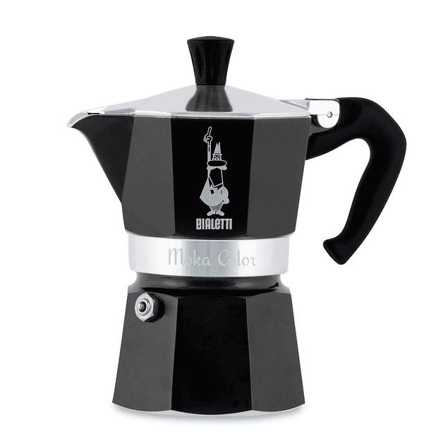 Cafetera Moka Express 6 tazas Negra