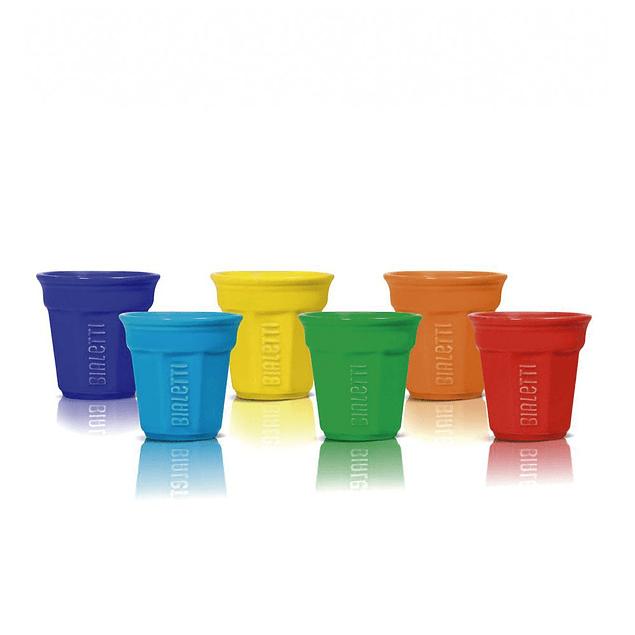 Set 6 Vasos Café colores