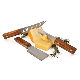 Set Cuchillos Rústico de Queso