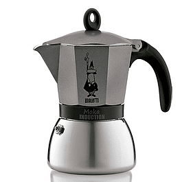 Cafetera Moka Induction Antracita  6 Tazas