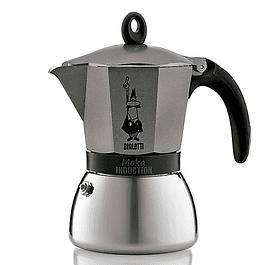 Cafetera Moka Induction Antracita  6 Tazas