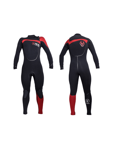 Traje Neopreno NMD Black – Red 4/3 mm
